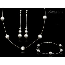 Biżuteria ślubna z kryształami Swarovskiego® KP114