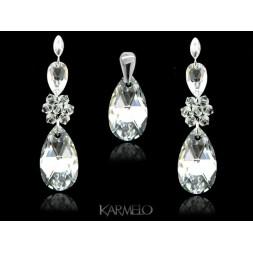 Biżuteria wieczorowa kryształy Swarovski® srebro crystal KP69