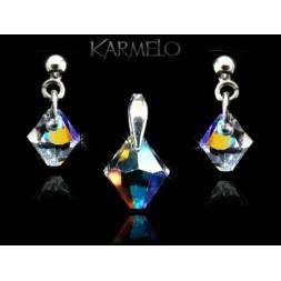 Biżuteria srebrna kryształy Swarovskiego® srebro KP120 AB