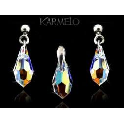 Biżuteria srebrna kryształy Swarovskiego® srebro KP122 AB