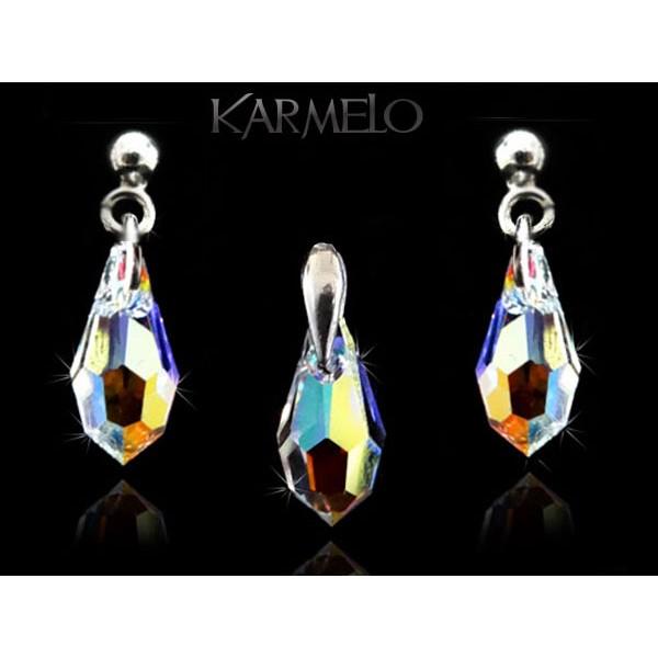 e0b02c20b20939 Biżuteria srebrna kryształy Swarovskiego® srebro KP122 AB - Karmelo