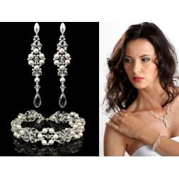 Biżuteria ślubna z kryształami i perłami Swarovski® KP128