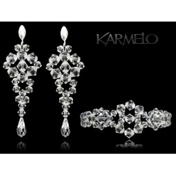 Biżuteria ślubna z kryształami Swarovski® KP402