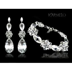 Biżuteria ślubna z kryształami Swarovski® KP129