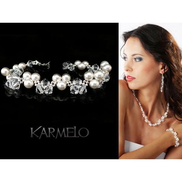 Bransoletka z kryształami i perłami Swarovski® BR16