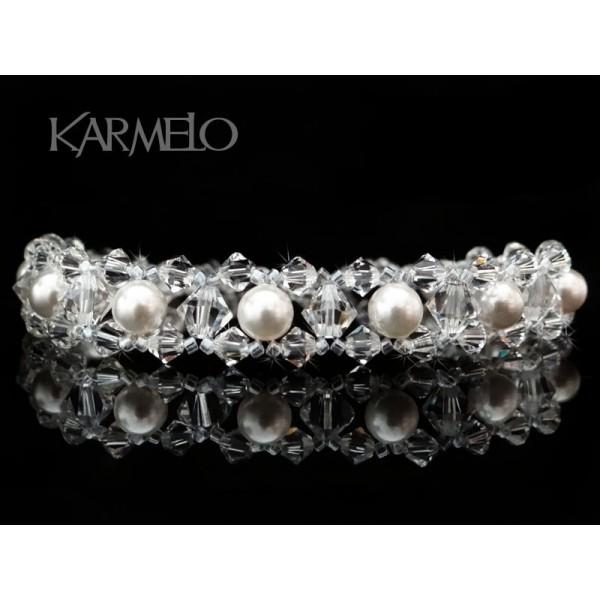Biżuteria ślubna z kryształami i perłami Swarovski® BR22