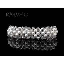 Biżuteria ślubna bransoletka z kryształami Swarovskiego®  BR54