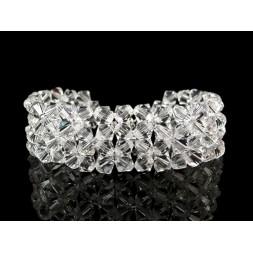Biżuteria ślubna bransoletka z kryształami Swarovskiego®  BR155 - 2,5 cm szer