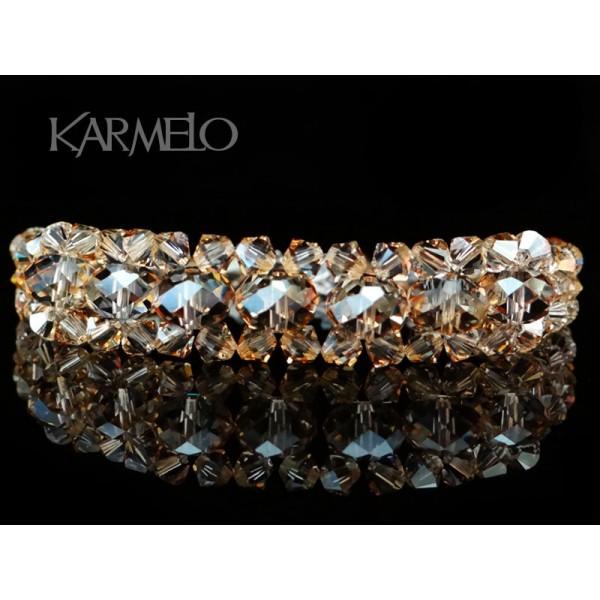 654b7f9124c2c1 Biżuteria ślubna z kryształami Swarovskiego® BR9 golden shadow - Karmelo