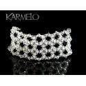 Biżuteria ślubna bransoletka z kryształami Swarovskiego®  BR107 -3 cm szerokości