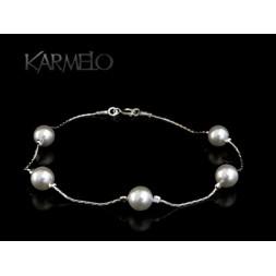 Biżuteria ślubna bransoletka z perłami Swarovskiego®  BR112