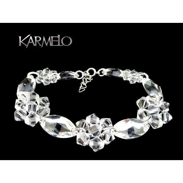 Biżuteria ślubna bransoletka z kryształami Swarovskiego®  BR115