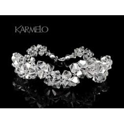 Biżuteria ślubna bransoletka z kryształami Swarovskiego®  BR56 crystal