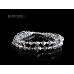 Biżuteria ślubna bransoletka z kryształkami Swarovskiego®  BR128