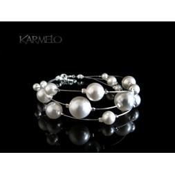 Biżuteria ślubna bransoletka perły Swarovski® BR129
