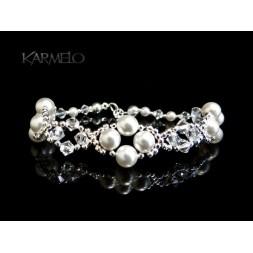 Biżuteria ślubna bransoletka perły i kryształy Swarovski® BR7