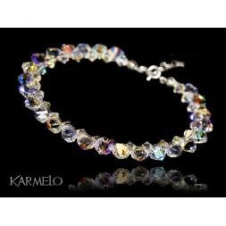 Biżuteria ślubna bransoletka kryształy Swarovski® BR130 AB