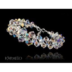 Biżuteria ślubna bransoletka kryształy Swarovski® BR132 AB