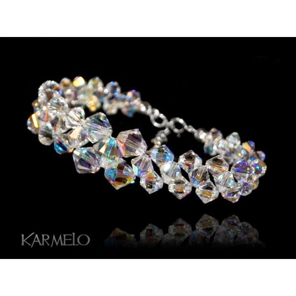 7259b061f781ac Biżuteria ślubna bransoletka kryształy Swarovski® BR132 AB - Karmelo