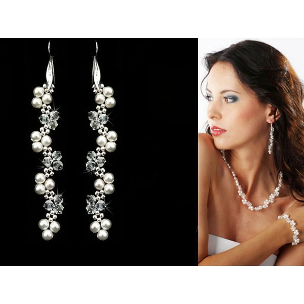 Biżuteria ślubna z kryształami Swarovski® KR16
