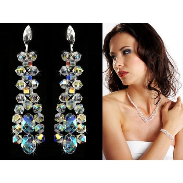 Kolczyki ślubne  z kryształami Swarovski® KR10