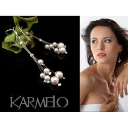 Kolczyki ślubne  z perłami Swarovski® KR15