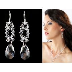 Kolczyki do Ślubu  z kryształami Swarovski® KR19