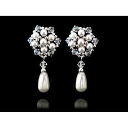 Biżuteria ślubna z perłami Swarovskiego® KR58
