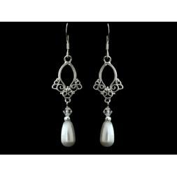 Biżuteria ślubna z perłami Swarovskiego® KR59