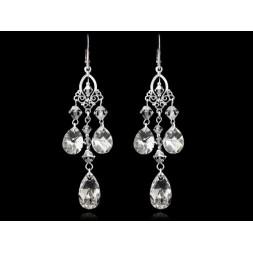 Biżuteria ślubna kolczyki z kryształami Swarovskiego®  KR105