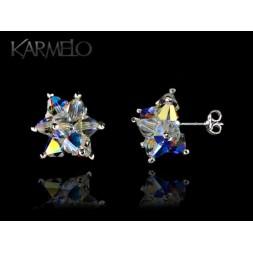 Biżuteria ślubna kolczyki wkrętki z kryształami Swarovskiego® AB KR107
