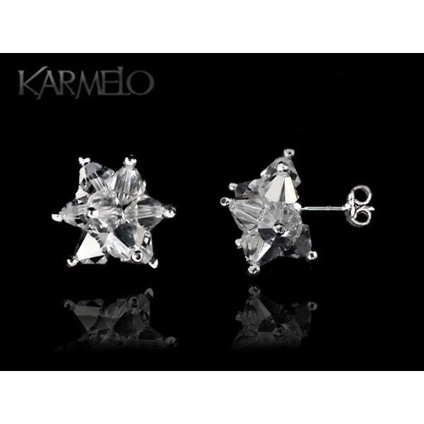 Biżuteria ślubna kolczyki sztyfty z kryształami Swarovskiego® crystal KR108