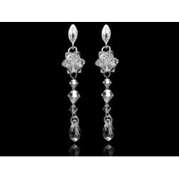 Kolczyki długie z kryształami Swarovskiego® KR120 crystal