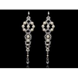 Biżuteria ślubna kolczyki długie z kryształami Swarovskiego® KR138