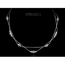 Biżuteria ślubna naszyjnik z kryształami Swarovski® NK104