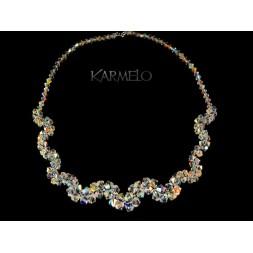 Biżuteria ślubna naszyjnik z kryształami Swarovskiego® NK56 AB