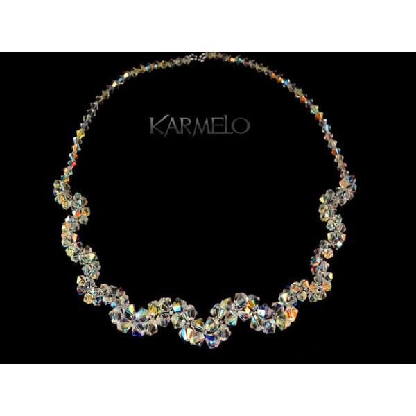 3b53336cd50135 Biżuteria ślubna naszyjnik z kryształami Swarovskiego® NK56 AB - Karmelo