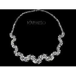 Biżuteria ślubna naszyjnik z kryształami Swarovskiego® NK56