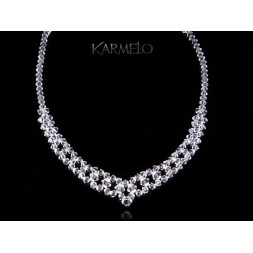 Biżuteria ślubna naszyjnik z kryształami Swarovskiego® NK55 cystal