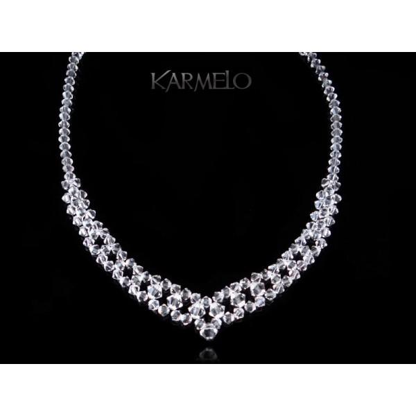 Nowość Biżuteria ślubna naszyjnik z kryształami Swarovskiego® NK55 cystal SM47