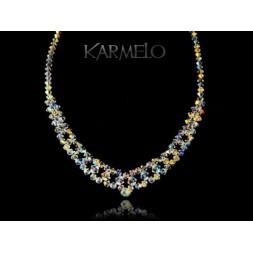 Biżuteria ślubna naszyjnik z kryształami Swarovski® NK551 opalizujący