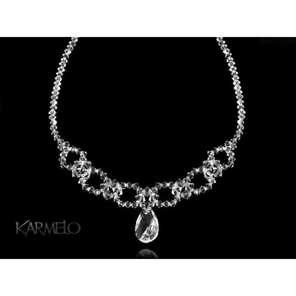 Biżuteria ślubna naszyjnik z kryształami Swarovskiego® NK19