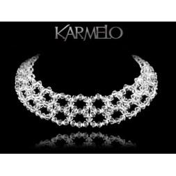 Biżuteria ślubna naszyjnik z kryształami Swarovski® NK106