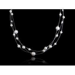 Biżuteria ślubna naszyjnik z perłami Swarovskiego® NK129