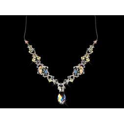 Naszyjnik srebrny z kryształkami Swarovskiego® NK17 AB