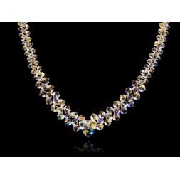 Naszyjnik do ślubu z kryształami Swarovskiego® NK133 AB
