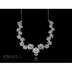Biżuteria ślubna naszyjnik z kryształami Swarovskiego® NK18 crystal