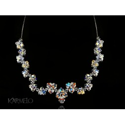 Biżuteria ślubna naszyjnik z kryształami Swarovski® NK46 opalizujący