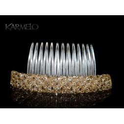 Ozdoba do włosów Grzebyk z kryształami Swarovskiego® golden shadow G1