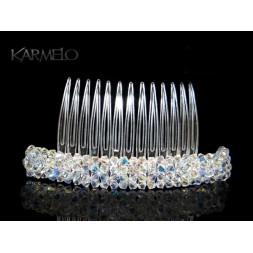 Ozdoba do włosów Grzebyk z kryształami Swarovskiego® AB G1